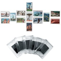 Set of 50 Blank Photo Frame Fridge Magnets by Kurtzy - Quality Clear Acr... - $23.38