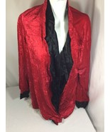 Charades Unisex Adult Red Halloween Costume Size XL Long Sleeve  Bin79#45 - $11.30