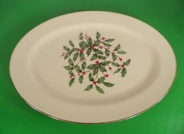 Lenox PRESIDENTIAL SPECIAL Oval Platter 13-1/2 Holiday Holly - $49.45