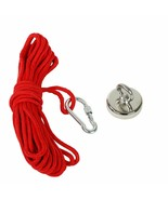 Fishing Magnet Kit Up 500 LB Pull Force Super Strong Neodymium+10M Red Rope - $20.85