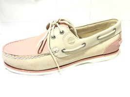 Timberland Women's Classic Boat Shoes Light PINK & Off-White  8146A SIZE... - $49.99