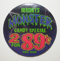 Hersheys Monster Candy Special Vintage Gas Station Pinback Collectible B... - $14.84