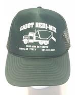 Cabot Redi-Mix Cabot, AR Green Mesh Trucker Snapback Hat Silk Screen Log... - $9.79