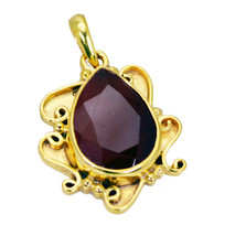 bonnie Red Onyx Gold Plated Red Pendant Fashion jewellery US - $5.93