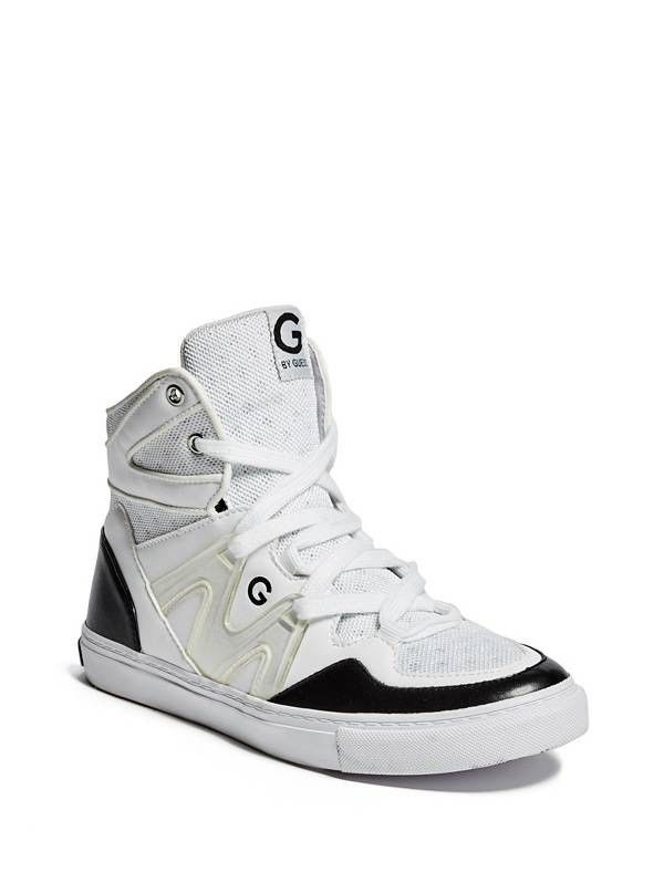 G by Guess OTREND High Top Sneaker Black and White Shoe 9.5 NEW with Box - $29.99
