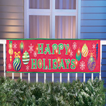 Lighted Outdoor Happy Holidays Banner  - $11.18