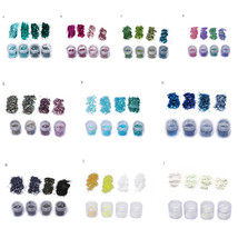 BAHYHAQ - Group Of 4 Colors Nail Art Tips Stickers Acrylic 3D Glitter Se... - $2.82