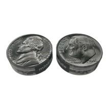 Lot of 2 Minipix Coin 7 Inch Diameter Nickel Dime 140 Piece Puzzles - $19.99