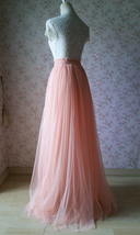 PINK High Waisted Full Length Tulle Skirt Pink Wedding Bridesmaid Tulle Skirt image 3