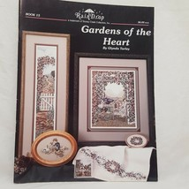 Gardens of the Heart Cross Stitch Pattern Leaflet 15 RainDrop Flowers Bu... - $10.99