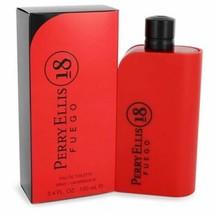 Perry Ellis 18 Fuego by Perry Ellis Eau De Toilette Spray 3.4 oz for Men - $37.48