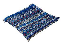 PANDA SUPERSTORE Ethnic Fusion Cushion/Office Cushion/Tatami Cushion(China Blue)
