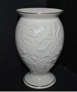 Vintage Lenox Lily Porcelain Cream Flower Vase with Gold Trim - $14.95