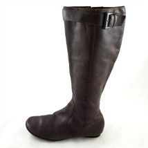 Born Brown Leather Fashion Knee High Boots Buckle Womens 6.5 M Style W61342 - $59.39