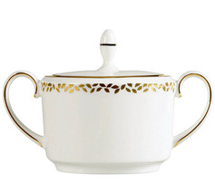 Vera Wang Gilded Leaf Sugar Bowl with Lid by Wedgwood New - $76.90