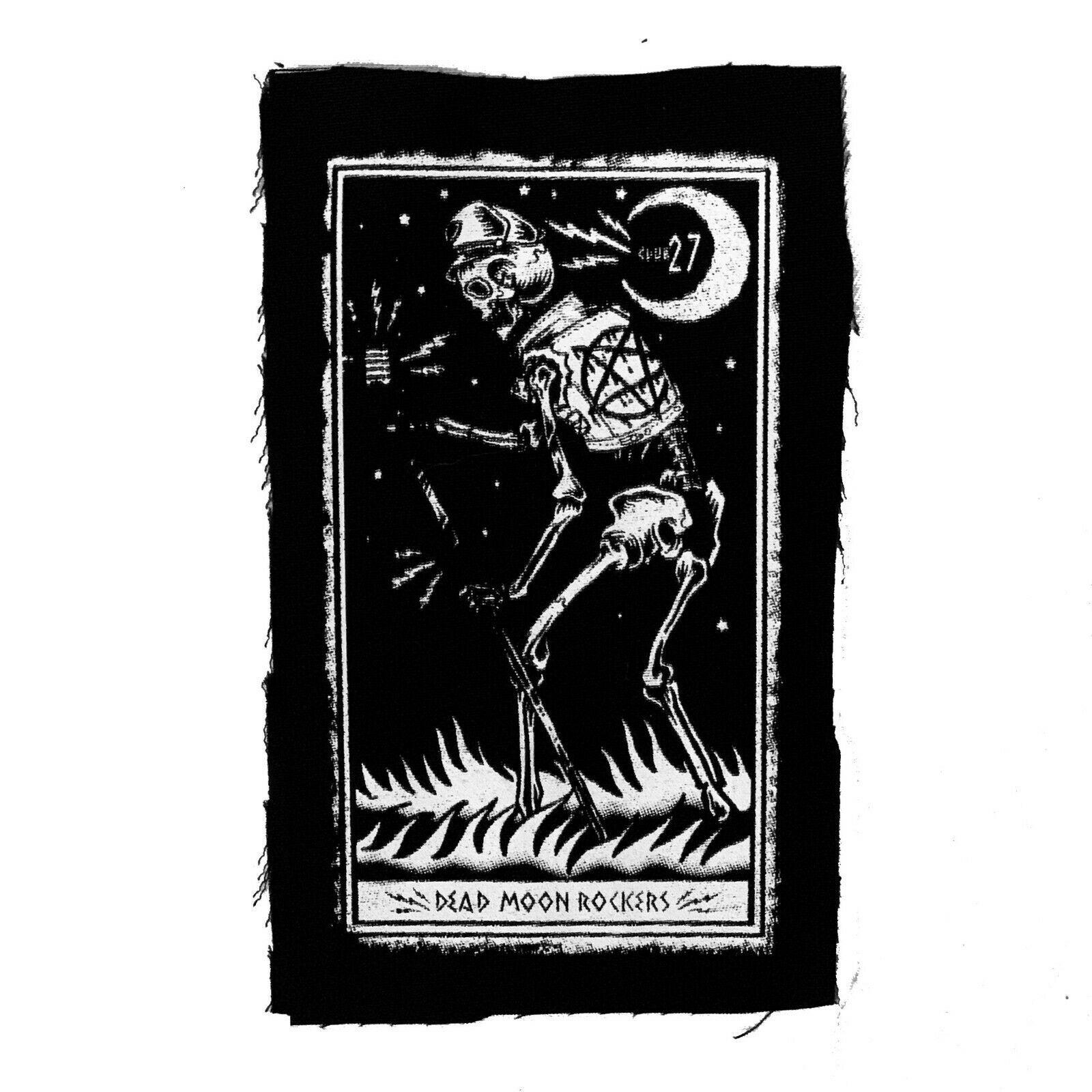 Too Fast Club 27 Dead Moon Rockers Gotico Punk Pentagramma Panno Patch