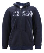 Men's Texas Embroidered Sherpa Lined Warm Zip Up Fleece Hoodie Sweater Jacket image 11