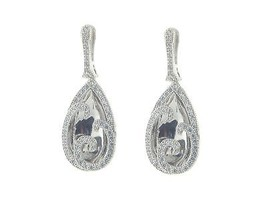 Fronay Collection Pure Luxury Bridal CZ Earrings in 925 Sterling Silver ... - $118.75