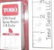 Toro Irrigation Series 570 Nozzle 1/4 circle 5 ft radius - $4.22
