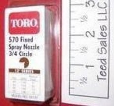 Toro Irrigation Series 570 Nozzle 3/4 circle 12 ft radius - $4.22