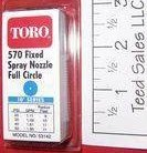 Toro Irrigation Series 570 Nozzle full circle 10 ft radius