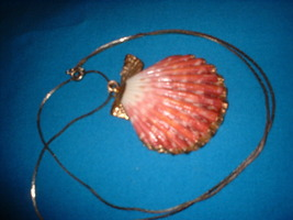 Gold dipped shell necklace back thumb200