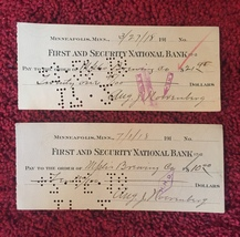 4 Mpls Brewing Co- First & Security National Bank Canceled Checks (1918/1922) image 2