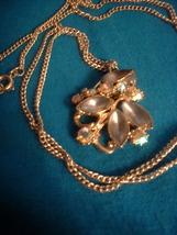 Vintage Jewelry  AB & Moonstone RS  Pendant           - $13.99