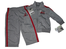 NEW FLAPDOODLES INFANT'S BOYS JOGGING GRAY TRACKSUIT OUTFIT 24 MONTHS - $22.84
