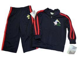 NEW FLAPDOODLES INFANT'S BOYS JOGGING NAVY TRACKSUIT OUTFIT 12 MONTHS - $22.84