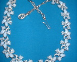 Blue enamel leaf necklace front thumb155 crop