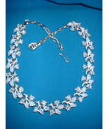Vintage Jewelry Blue Enamel Leaf Necklace - $14.99