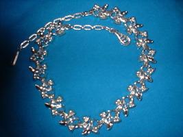 Blue enamel leaf necklace back thumb200