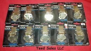 10 Brass Plated Window Locks CD6414