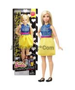 "2015 Barbie Fashionistas 12"" Doll Curvy Blonde DMF24 in Chambray Chic Ou... - $19.99"