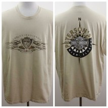 Harley Davidson Miami Florida Tan Graphic T Shirt Mens Sz 2XL USA - $29.02