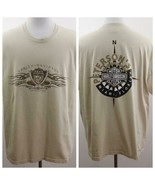 Harley Davidson Miami Florida Tan Graphic T Shirt Mens Sz 2XL USA - $29.02