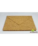 EcoQuote Envelope Folder Handmade Eco Friendly Cork Material for Vegan - $40.80