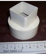 Raingo Vinyl Gutter Downspout Adapter White - $9.13