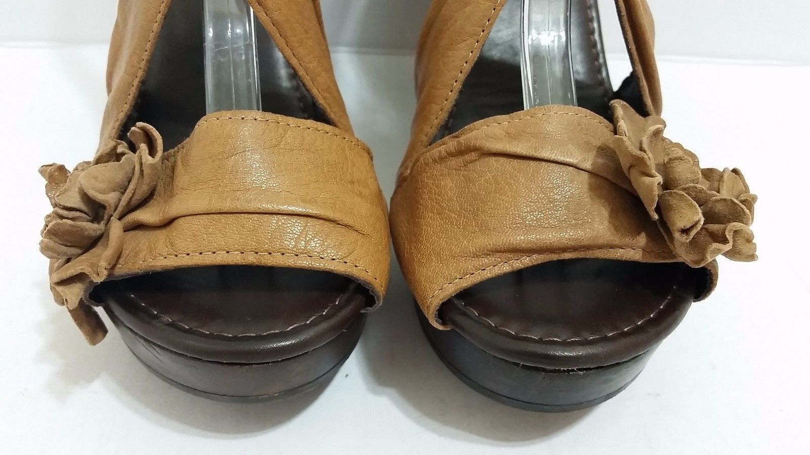 2644fa4e1767 NARA SHOES Brown Leather Sandals Wooden and 50 similar items