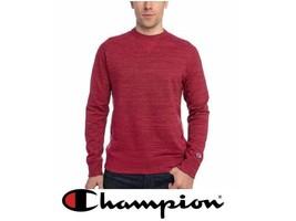 Champion Men's Textured French Terry Crew Neck Sweatshirt,Color:Crimson,... - $20.99