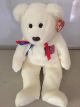 TY Libearty Teddy Bear Beanie Buddies 2000 Stuffed plush - $6.23