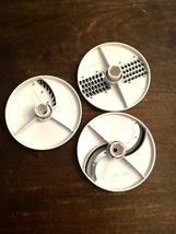 Three Oster Regency Kitchen Center Disc Blades Food Processor Slicing Parts Only - $27.99