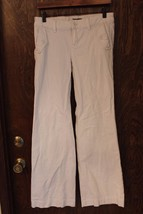W10264 Womens GAP White Stretch Denim BOOT CUT JEANS Pants sz 4 - $12.60