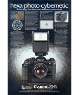 1980 Canon A1 SLR single lens reflex camera print ad - $10.00