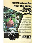 1977 Pentax ME SLR single lens reflex camera print ad - $10.00