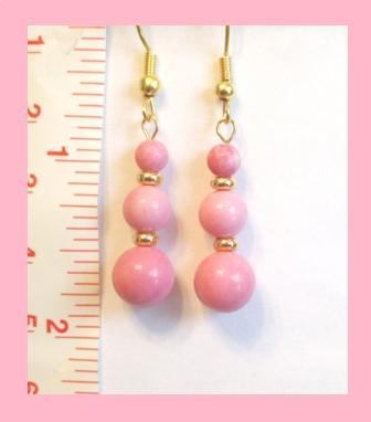 Pink Rhodonite Earrings