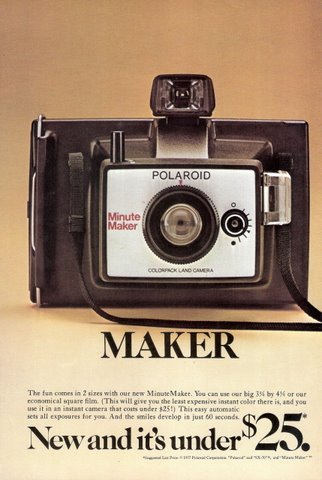 1977 Polaroid Colorpack Land new camera print ad