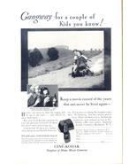 1932 Cine Kodak M Movie Camera wagon kids print ad - $10.00