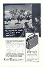 1934 Cine-Kodak Eight Movie Camera horse riding ad - $10.00
